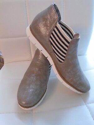 RIEKER GRÖSSE 41 Stiefeletten Stiefel Boots Slipper Leder