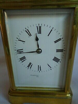 Antique 1880 Stunning Margaine  Repeater Carriage Clock + Key In Gwo 2
