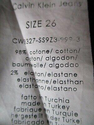 Calvin Klein Black Jeans Trousers Unusual Front Fastening Size 26 W28 L27 5
