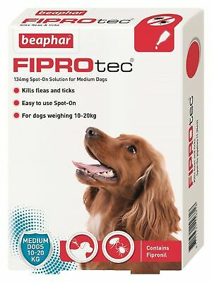Beaphar Fiprotec FIPROtec Flea Spot On Small Medium Large XL Dog 1 4 6 Treatment 3