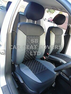 I - TO FIT A NISSAN JUKE CAR, SEAT COVERS, GREY/BLACK DIAMOND, FULL ...
