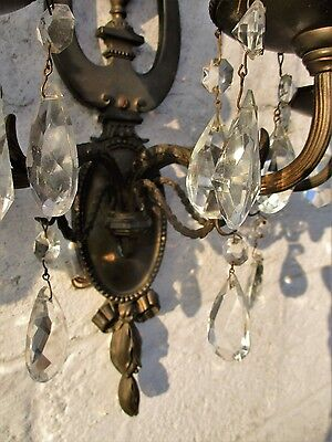 Wall Sconces by E.F. Caldwell Gorgeous Large Pair Three-arm Bronze Prisms 8