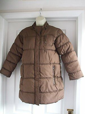 Z. Kids AGED 9 - 10 GIRLS PADDED LONG BROWN WINTER COAT CASUAL 3