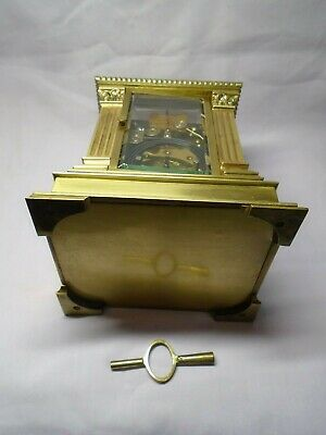 Very Large French Repeater / Alarm Carriage Clock In Excellent Condition + Key 10