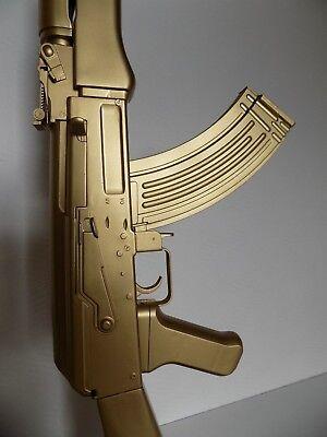 Nachtkonsole Büro Tisch Salon Kalash Ak Gun Lampe Design AK47 Kalaschnikow Gold