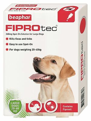 Beaphar Fiprotec FIPROtec Flea Spot On Small Medium Large XL Dog 1 4 6 Treatment 4