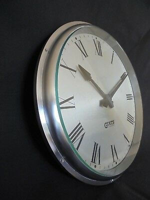 "Gents Of Leicester Industrial Cast Aluminium Wall Clock 13"" 6"