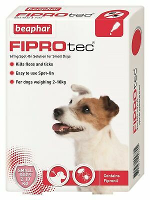 Beaphar Fiprotec FIPROtec Flea Spot On Small Medium Large XL Dog 1 4 6 Treatment 2