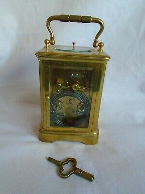 Antique 1880 Stunning Margaine  Repeater Carriage Clock + Key In Gwo 6
