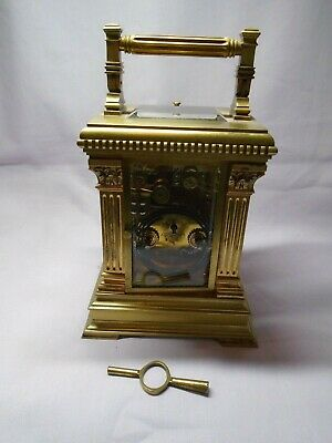 Very Large French Repeater / Alarm Carriage Clock In Excellent Condition + Key 7