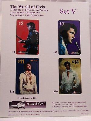 *Lot of 22*ELVIS PRESLEY **2 RARE CARDS**Vintage COA Phone Card *COMPLETE SET*