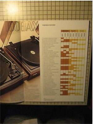 BSR Turntables Original Brochure 20BPX, 200BAX, 100BAX 4