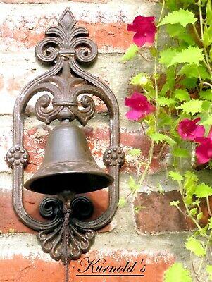 Türglocke Glocke Tor Tür Haustür Eisen Antik Bell Landhausstil Kurnolds 0171 5