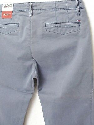 aa1779cb3853 ... TOMMY HILFIGER pantalon Chino gris bleu homme Slim Fit Stretch taille W  29 L 34 3