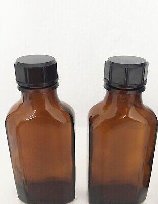 drei kleine braune Glasflaschen Vintage Retro 2