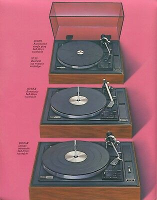 BSR Original Turntables Brochure 200BAX, 100BAX, 20BPX, 20BP 2