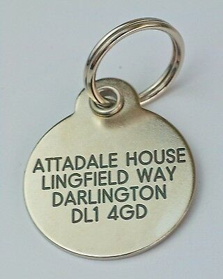Deluxe ENGRAVED tags for Pets Brass or Nicron 2 sizes 2