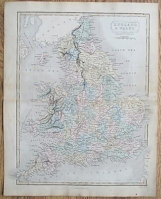 12 19th Century Great Britain England Wales Various Genuine Antique Maps 8