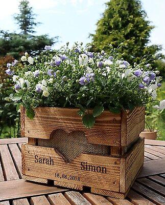 Vintage Hochzeit Obstkiste Tischdeko Holz Deko Geschenk Blumen