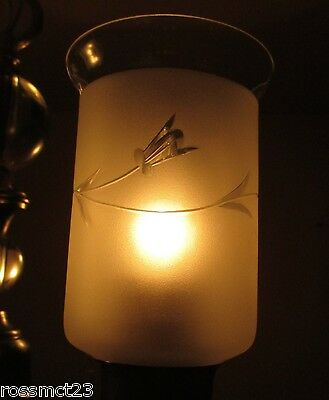 Vintage Lighting lovely petite 1940s brass glass chandelier 5
