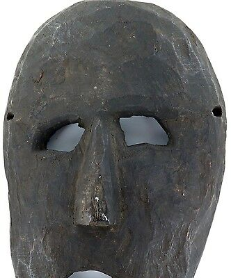 cLATE 1800s MIDDLE HILLS AREA HIMALAYAN CARVED LARGE WOODEN MASK, IMPRESSIVE! #5 2