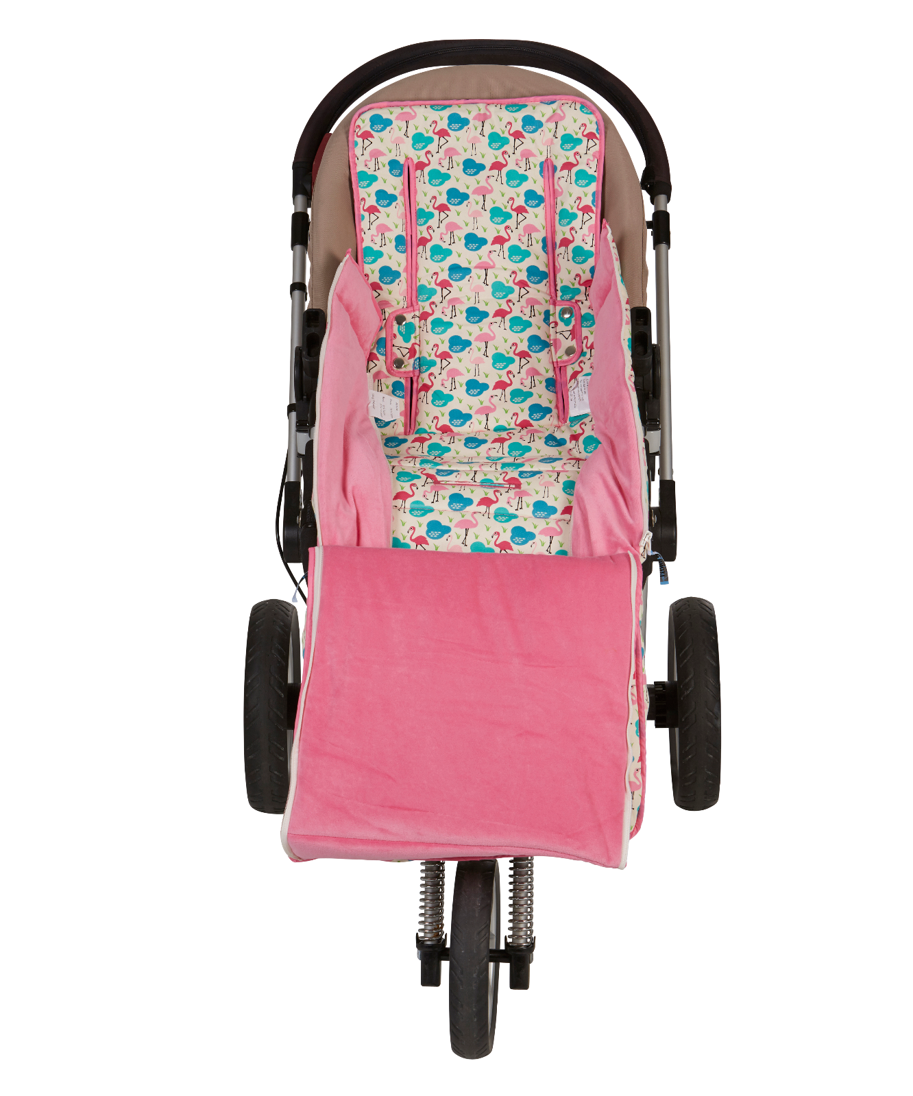 Keep Me Cosy™ Pram Liner + Toddler Footmuff 2 in 1 set exclusive Flamingo design
