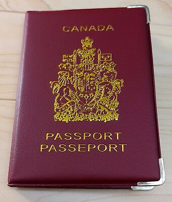 Canadian Canada Plastic Vinyl Passport Cover Protector Holder Sleeve - Red 5