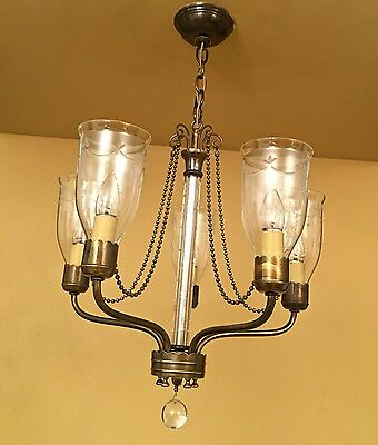 Vintage Lighting extraordinary 1940s chandelier by Lightolier 2