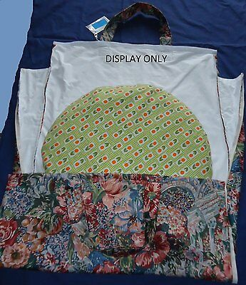 "Padded Shoulder Pillow Bag For 24""/26"" Pillow   Cream Floral.  2 Heavy Duty Zips 4"
