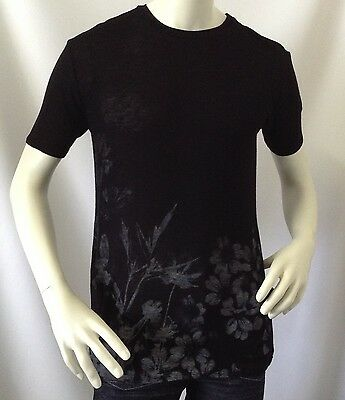 Forever 21 Men S T Shirt Sheer Black Flower Fashion Summer