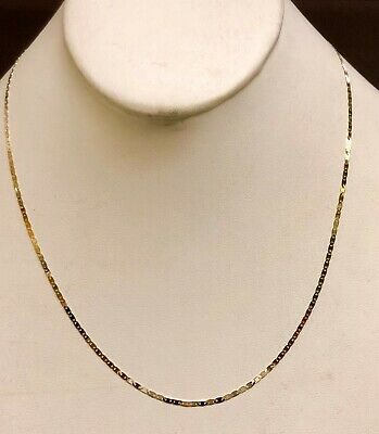 "14kt Solid Yellow Gold Mariner Link Pendant Chain Necklace 1.7 mm 20"" 2.2 grams 12"