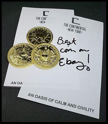 John Wick Starter Set The Continental Hotel Oath Sdcc Devil Pop Coin Sticker 11 11
