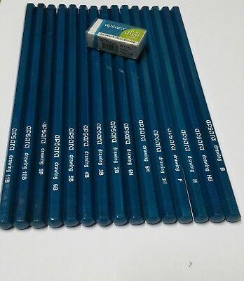 15 Graded Pencils Drawing Sketching F H Hb 3H 5H 6H B 2B 3B 4B 5B 6B 9B 10B 11B 4