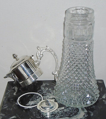 """Antique Silver """"Eales 1779 Silver Plate Italy"""" 14in Wine Claret / Water Pitcher 2"""