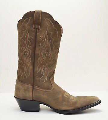 2739e3feee4 ARIAT 15729 HERITAGE Western J Toe Distressed Tan Brown Leather Boots - Sz  8 B