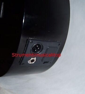 Chitarra Classica Nera 4/4 Amplificata Elettro-acustica Pre 5b+Accordatore Borsa