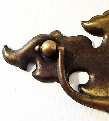 "Antique Hardware .. Chippendale Batwing drawer pulls..3"" on center 2"