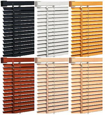 Pvc Wood Wooden Grain Effect Venetian Window Blind / Blinds Home Office Easy Fit 2