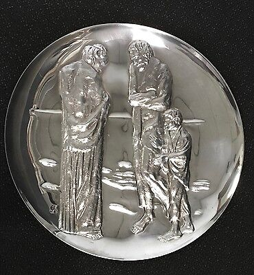 """Picasso The """"Tragedy""""  post 1940 - over 9oz of .999 Silver - Franklin Mint 2"""