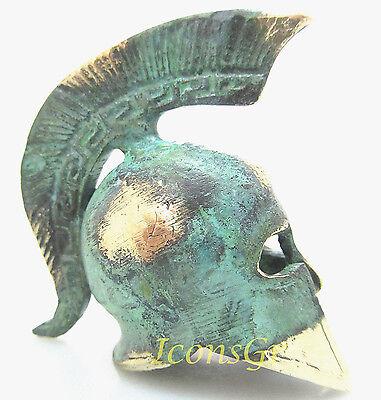 Ancient Greek Bronze Museum Replica Of Spartan Officer Helmet (387) 3