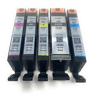 Canon OEM Genuine PGI-280 & CLI-281 Colors (CMY) and PGI/CLI Black Ink Cartridge 2