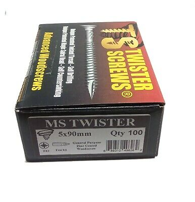 Twister Wood Screws Patented screw design Self Drilling/Countersinking sharp 2
