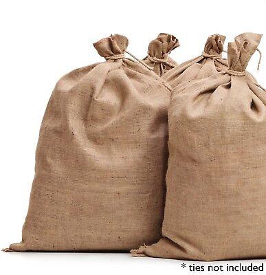 5 Burlap Sacks- Potato Sack Race Bags, Sandbags, Gunny Sack 22x36, Fish Bag 7