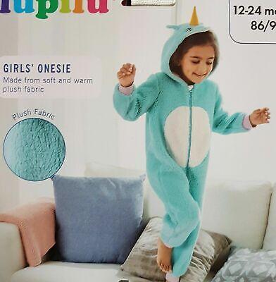 Girls All in one Hooded Onesy Sleepsuit Unisex Footless Fleece Kid Pyjamas Cute 4