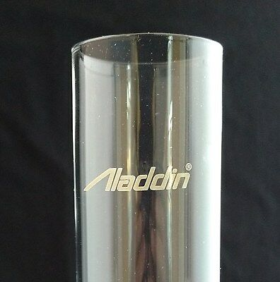 ALADDIN LAMP PART # R103 LOX-ON CHIMNEY NEW REPLACEMENT w/ FIRED-ON ALADDIN LOGO 2