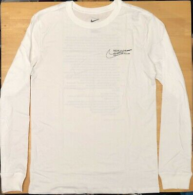 Details about Nike x Off White Campus White Long Sleeve T Shirt Size M XL Ships Immediately