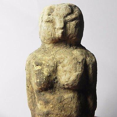 Zurqieh -Tat23- Ancient Egypt , Pre-Dynastic Limestone Figure Of A Female 2 • CAD $2,516.70