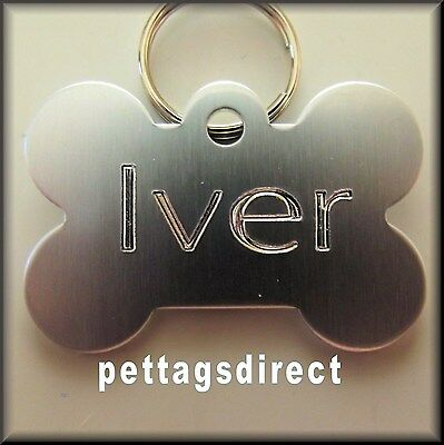 (Pk 3) - £6.99 Coloured Pet DOG/CAT Engraved ID Tags Deep Engraving S/M/L Sizes 2