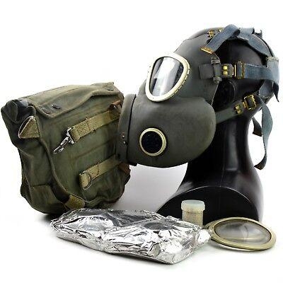 Vintage soviet era gas mask. Polish military Gas Mask MP-4. NEW Full set surplus 4