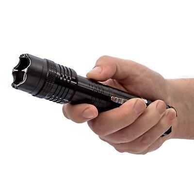 POLICE METAL Stun Gun 1158 78 BV Rechargeable With LED Flashlight + Taser Case 4